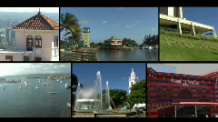 Puerto Rico - Ponce Collage Stock Footage