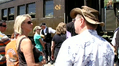 Tourists Waiting for Train Ride 2 - stock footage