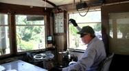 Steam Train Engineer 2 Stock Footage