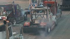 Motorsports, Big rig truck smokin' the hides Stock Footage