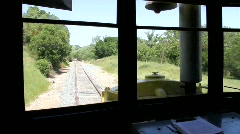 Train Ride Track View Stock Footage