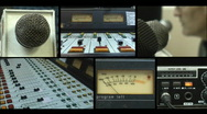 Stock Video Footage of HD Radio Broadcaster black bg