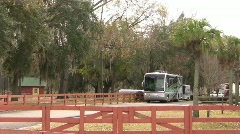 Motorhome leaving campground Stock Footage