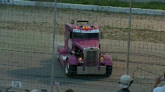 Motorsports, Big rig crazy smoky spin out Stock Footage