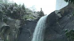 Yosemite Bridalvieil Falls CU Stock Footage