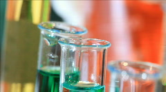 dolly push to mixing chemicals - stock footage