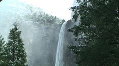 Yosemite Bridalveil Falls Timelapse Stock Footage