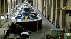 Generators at Hoover Dam Stock Footage