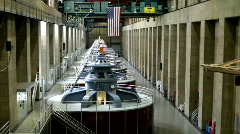 Inside the Hoover Dam Generators Stock Footage