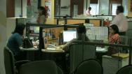 Stock Video Footage of Mumbai Office Workers 3