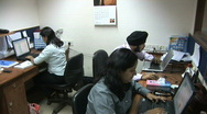 Stock Video Footage of India Office Workers 3