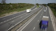 Stock Video Footage of Road traffic at a  junction on the A14 dual carriageway.