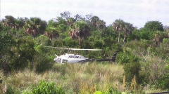 Stock Video Footage of helicopter swamp takeoff