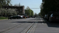 Small town street 2 Stock Footage