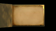 Very old gold magic book with flipping pages Stock Footage