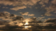 Time Lapse Sunset Clouds 10 x15 Stock Footage