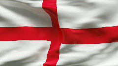 Creased ENGLAND flag in wind - slow motion Stock Footage