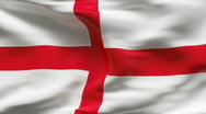 Stock Video Footage of Creased ENGLAND flag in wind - slow motion