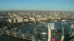 Images of The London Eye in England Stock Footage