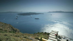 Santorini Caldera Timelapse Stock Footage