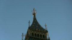 Big Ben clock in London, England Stock Footage