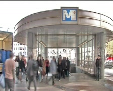Brussels Metro - stock footage