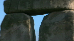 Stonehenge in Wiltshire, England Stock Footage