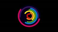 Rainbow Circle 4 Stock Footage