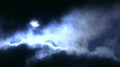 Time Lapse Moon and Clouds 05 x2 Stock Footage