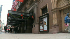 Carnegie Hall, New York City - stock footage