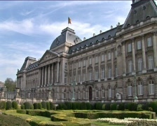 Royal Palace of Brussels Stock Footage