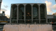 Stock Video Footage of Lincoln Center for the Performing Arts in New York City