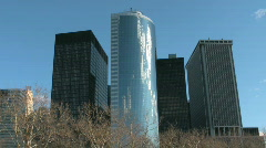 Battery Park in New York City Stock Footage