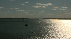 Verrazano-Narrows Bridge to Staten Island, New York City Stock Footage