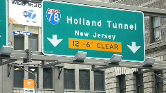 Holland tunnel #85 Stock Footage