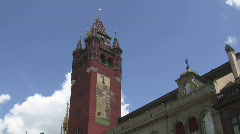 Basel townhall tower Stock Footage