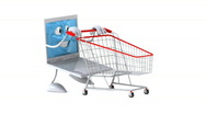 Shopping online Stock Footage