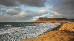 Iceland coastline - stock footage
