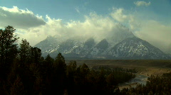 TETON Time lapse Clouds - stock footage