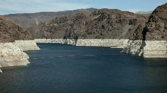 Lake Mead entering Hoover Dam Area Stock Footage