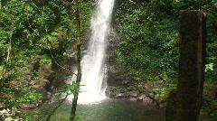 San Louis Waterfall in Monte Verde - stock footage