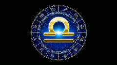 Libra Zodiac Stock Footage