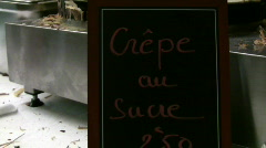 Crepe Au Sucre Stock Footage