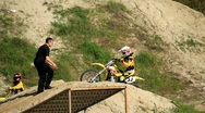 Yellow motorcycle Stock Footage