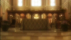 Inside Catholic Church 4 - stock footage