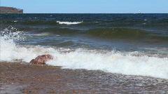 Waves on Lake Superior Beach  Stock Footage