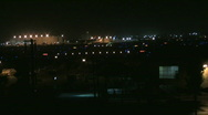Busy airport at night 42 Stock Footage