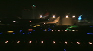 Busy airport at night 45 Stock Footage