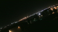 Busy airport at night 21 Stock Footage