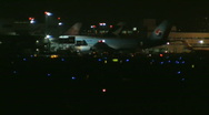 Busy airport at night 26 Stock Footage